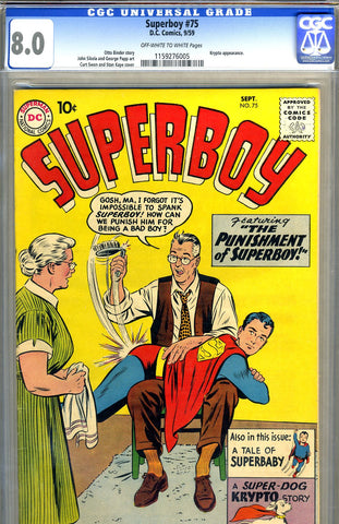 Superboy #075   CGC graded 8.0 - SOLD