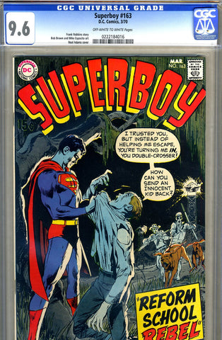 Superboy  #163   CGC graded 9.6 - SOLD!
