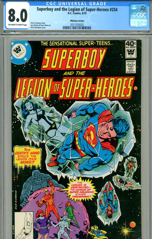 Superboy & the Legion of Super-Heroes #254 CGC graded 8.0 VARIANT