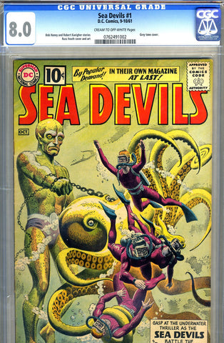 Sea Devils #01   CGC graded 8.0 - SOLD