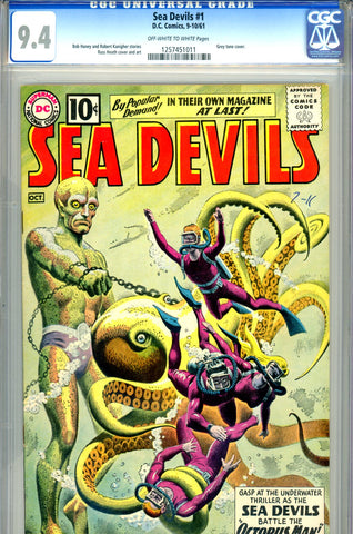 Sea Devils #01   CGC graded 9.4 - Heath grey tone cover