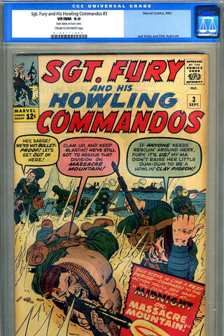 Sgt. Fury #03   CGC graded 9.0 - SOLD!