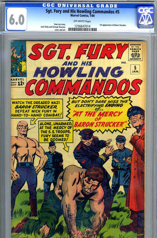 Sgt. Fury #05   CGC graded 6.0 first Baron Strucker SOLD!