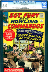 Sgt. Fury #07 CGC graded 8.0 - brief origin of Sgt. Fury