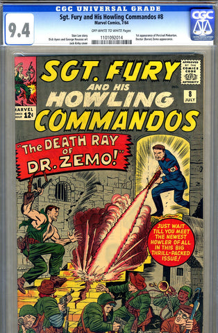 Sgt. Fury #08   CGC graded 9.4 - SOLD