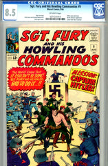 Sgt. Fury #09  CGC graded 8.5 Hitler cover