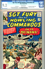 Sgt. Fury #10  CGC graded 9.2 first Captain Savage