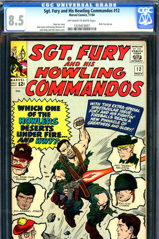 Sgt. Fury #12 CGC graded 8.5 - Jack Kirby cover - SOLD!