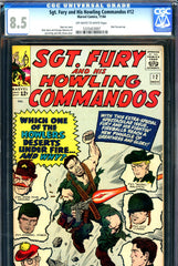 Sgt. Fury #12 CGC graded 8.5 - Jack Kirby cover