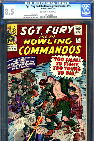Sgt. Fury #15 CGC graded 8.5 - Jack Kirby cover - SOLD!