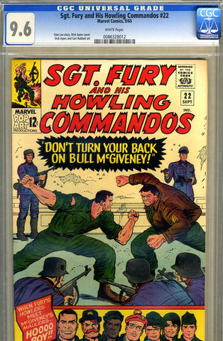 Sgt. Fury #22   CGC graded 9.6- SOLD