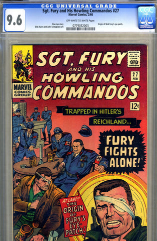 Sgt. Fury #27   CGC graded 9.6 - ONLY ONE HIGHER! - SOLD