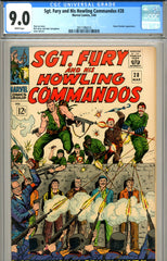 Sgt. Fury #28 CGC graded 9.0 white pages