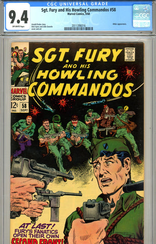 Sgt. Fury #58 CGC graded 9.4 - SOLD!