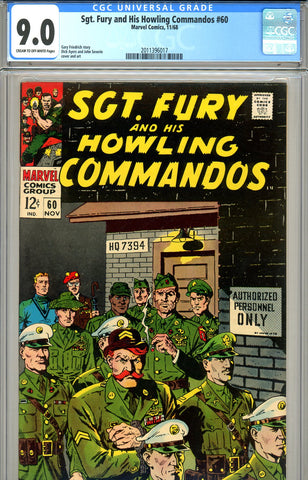 Sgt. Fury #60 CGC graded 9.0 SOLD!