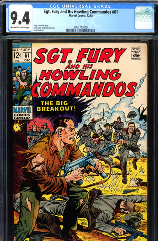 Sgt. Fury #61 CGC graded 9.4 - John Severin cover - SOLD!