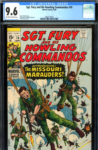 Sgt. Fury #70 CGC graded 9.6 - John Severin cover - SOLD!