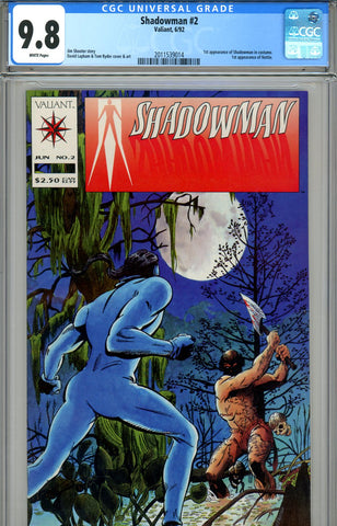 Shadowman #02 CGC graded 9.8 HIGHEST GRADED - SOLD!