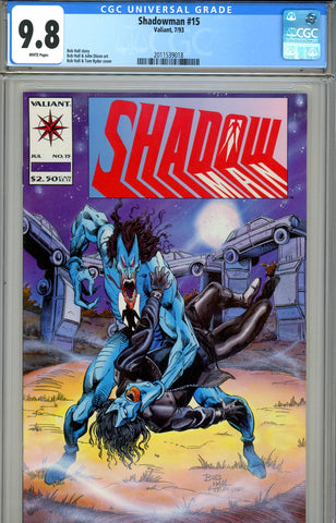 Shadowman #15 CGC graded 9.8 HIGHEST GRADED