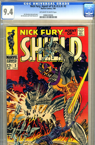 Nick Fury, S.H.I.E.L.D. #02   CGC graded 9.4 - SOLD