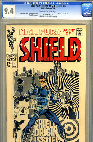 Nick Fury, S.H.I.E.L.D. #04   CGC graded 9.4 - SOLD