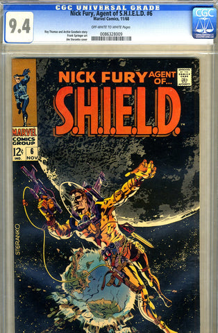 Nick Fury, S.H.I.E.L.D. #06   CGC graded 9.4 - SOLD