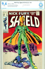 Nick Fury, Agent of S.H.I.E.L.D. #08 CBCS graded 9.4 white pages