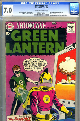 Showcase #23   CGC graded 7.0 - Green Lantern - SOLD!