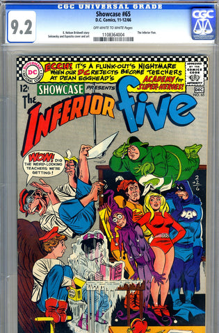 Showcase #65   CGC graded 9.2 - Inferior Five - SOLD!