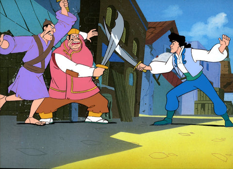 "Original production cel -""Sinbad""- by Golden Films 340 LARGE"