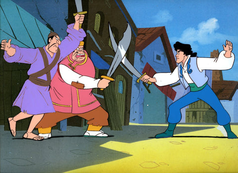 "Original production cel -""Sinbad""- by Golden Films 341 LARGE"