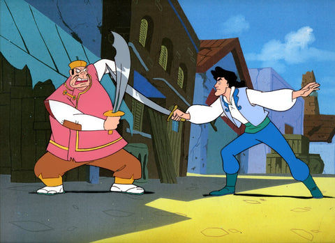 "Original production cel -""Sinbad""- by Golden Films 344 LARGE"