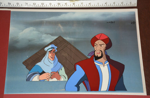 "Original production cel -""Sinbad""- by Golden Films 354 SIZE 15.50"" x 9"""