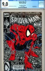 Spider-Man #01 CGC graded 9.0 poly-bagged Silver Edition