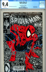 Spider-Man #01 CGC graded 9.4 poly-bagged Silver Edition