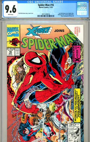 Spider-Man #16 CGC graded 9.6 last McFarlane issue SOLD!
