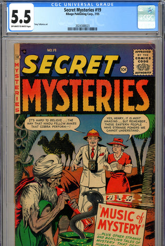 Secret Mysteries #19 CGC graded 5.5 SOLD!
