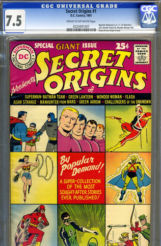 Secret Origins #1   CGC graded 7.5 (1961) - SOLD