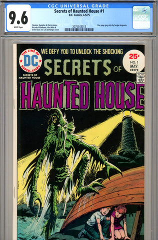 Secrets of Haunted House #01 CGC graded 9.6 white pages