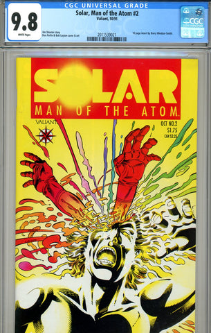Solar, Man of the Atom #02   CGC graded 9.8 HIGHEST GRADED