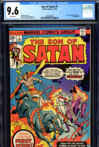 Son of Satan #01 CGC 9.6 - Starlin art  white pages