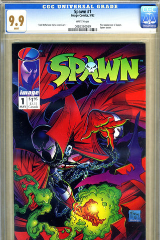 Spawn #1   CGC graded 9.9 - approved movie - SOLD!