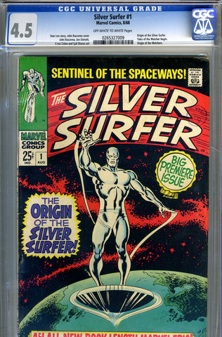 Silver Surfer #01   CGC graded 4.5 SOLD!