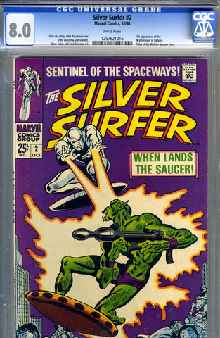Silver Surfer #02   CGC graded 8.0 - white pages - SOLD!