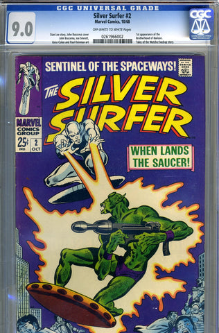 Silver Surfer #02   CGC graded 9.0 - SOLD!