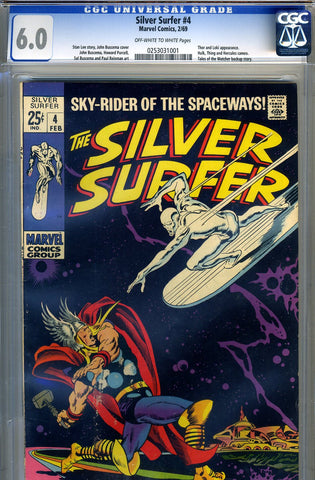 Silver Surfer #04   CGC graded 6.0 - SOLD!