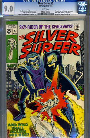 Silver Surfer #05  CGC graded 9.0 - white pages - SOLD!