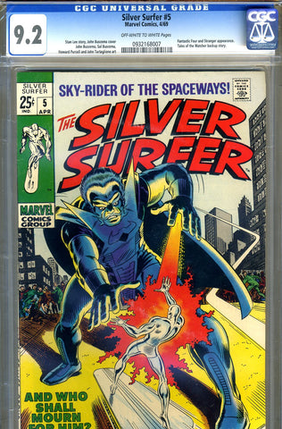 Silver Surfer #05   CGC graded 9.2 - SOLD!