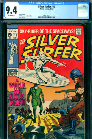 Silver Surfer #10 CGC graded 9.4 - SOLD!