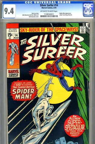Silver Surfer #14   CGC graded 9.4 - SOLD!